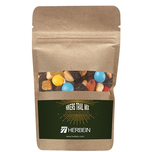 resealable kraft pouch w hikers trail mix #krpc-hkr