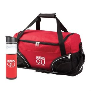 The Highland Duffel/Bottle Set - Red