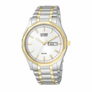 Citizen Men's Eco-Drive Stainless Steel Watch w/ White Round Dial