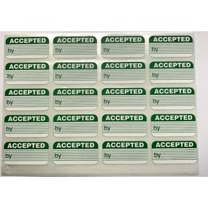 Accepted Labels - STOCK ITEM